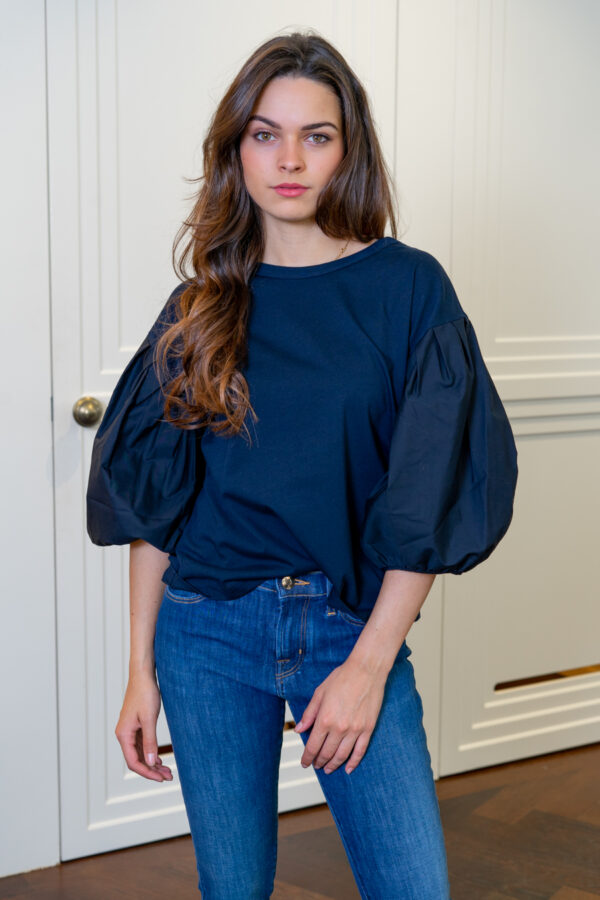 Shirt met pofmouw donkerblauw See By Chloé